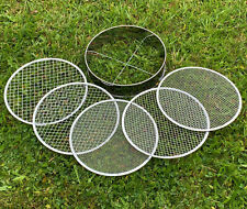 More details for stainless steel garden potting bonsai compost soil sieve with 5 filters