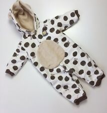 Disney Infant Baby Size 12 Months One Piece Pooh Fleece Brown Sleep & Play