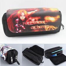 Fullmetal Alchemist  multilayer pencil pen bag makeup bags handbag storage bag