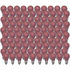 x 100 Bombilla 25w E27 Rojo Bombilla 25 Vatios Bombilla de Colores Fiesta