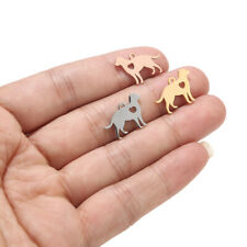 10pcs Polished Stainless Steel Pet Dog Charms diy Jewelry Making Crafts