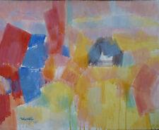 Daniel RAVEL (1915-2002) HsT 1991 Abstraction lyrique Jeune peinture Abstract