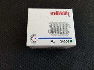 Marklin 24206 Box of 6 Curved Tracks R2 Very Good