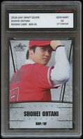 SHOHEI OHTANI 2018 LEAF DRAFT SILVER 1ST GRADED 10 BASEBALL ROOKIE CARD ANGELS