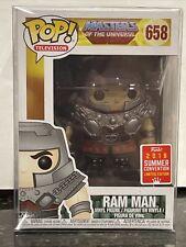 Funko Pop Masters of the Universe Ram Man 658 SDCC Summer 2018 w/Protector MOTU