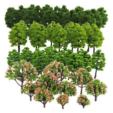 Pack of 70pcs Model Trees 1 100 Scale 3-9cm Building Park Landscape Scenery