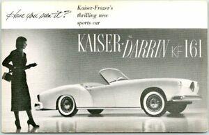 1953 KAISER-FRAZER DARRIN KF-161 Automobile Advertising Postcard Chrome Unused