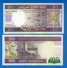 Mauritania P-16 100 Ouguiya Year 28.11.2011 Uncirculated Banknote