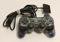 Official OEM Sony PlayStation 2 PS2 Clear Slate Smoke Gray Controller DualShock