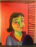 Abstract Portrait Painting Pablo Picasso Style