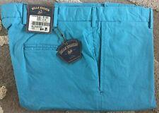 NWT-Bills khakis M3-BJSC Size 33X30 PLAIN TRIM SKY BLUE STRETCH CLOTH $165
