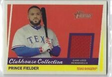 PRINCE FIELDER 2016 Topps Heritage CLUBHOUSE COLLECTION RELIC #PF Rangers