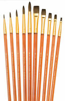 NEW ROYAL BRUSH -SVP-6 BRUSHES PACK - FINEST PURE SABLE ROUND & SHADER SET 10