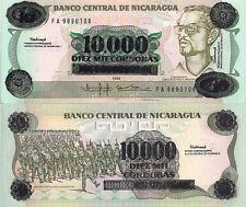 Bolivia P195a Marshal Andrés de Santa Cruz 1 Cent O//P 10,000 Peso palace UNC