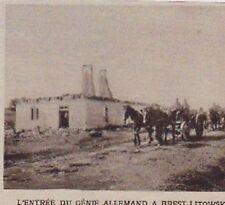 1915  --  ENTREE DU GENIE ALLEMAND A BREST LITOWSKI  3A880  brest litovsk