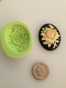 Rose Cameo silicone mould - cake decorating, sugarpaste, fimo