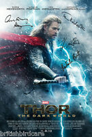 THOR Signed Movie Film Poster A2 Large 59x42cm 4 cast signed inc Chris Hemsworth