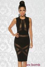 SEXY abito vestito nero tulle tag. XS ,S, M, L ,XL (38 ,40 ,42, 44, 46) GLAMOUR
