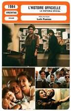 FICHE CINEMA : L'HISTOIRE OFFICIELLE - Alterio,Puenzo 1984 The Official Story