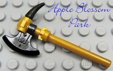 NEW Lego Ninjago Ninja Black & GOLD AXE Hatchet w/Spike Skeleton Minifig Weapon