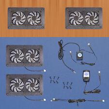 Cabinet Air Control 12-volt trigger-controlled multi-speed AV cooling fans/12v
