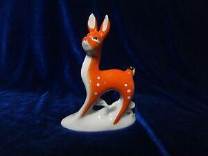 VINTAGE Porcelain Figurine Soviet small deer made on Gorodnitsky russian antique