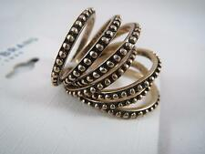Lucky Brand gold tone textured set of 7 rings, size 7, NWT