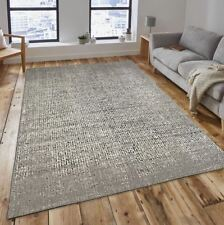 New Speckle Beige Cream Black Flatweave Hard Wearing Extra Large Rug 160x230cm