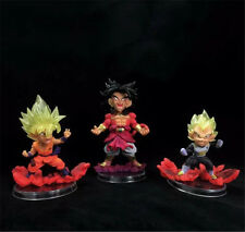 3pcs Set UG Dragon Ball Z Legend of Super Saiyan Son Goku Vegeta Broly Figure IB