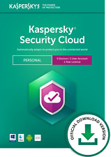 Kaspersky Security Cloud Personal 5 Devices 1 Year PC/Mac/iOS Official Download