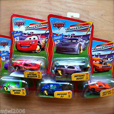 Disney PIXAR Cars IMPOUND WINGO & SNOT ROD & DJ BOOST MCQUEEN lot 5 TUNERS CHASE