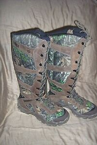 Womens 10 Snake Proof Boots Waterproof Camo Scent Ban Hunting Boots Irish Setter