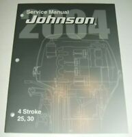 2004 JOHNSON SR 4 STROKE 25 30 HP Service Repair Manual outboard P/N 5005665