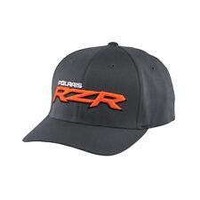 Polaris RZR Cap in Gray w/ Orange Logo - Size L/XL - Genuine Polaris - Brand New