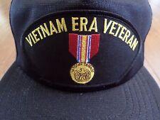 U.S VIETNAM VETERAN HAT NATIONAL DEFENSE MEDAL U.S MILITARY BALL CAP U.S.A MADE