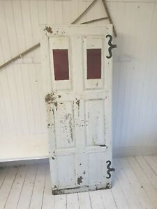 Antique Panelled doors x 2 - French hardwood with original furniture