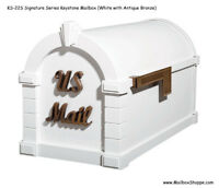 Gaines Keystone Signature Mailbox - Aluminum Mail Box 12 Color/Accent Combos