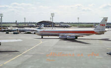 """TWA Boeing 707-331 N763TW at ORY in May 1963 8""""x12"""" Color Print"""
