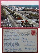 Forte dei Marmi - Viale di levante 1957 SERVIZIO FIAT - BARCHE A VELA