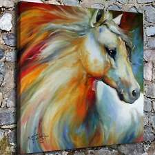 A5861-Colored horse Painting Poster Home Decor HD Canvas Print Wall Art Picture
