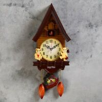 """Wall clock, series: Pendulum, with a cuckoo """"Bears in the house"""", 15x27.3 cm"""
