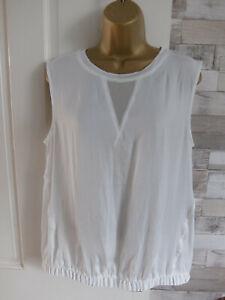 New NEXT petite ● size 14 ● cream white bubble hem blouse vest top womens ladies