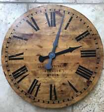 Large Rustic Wooden Wall Clock 62cm