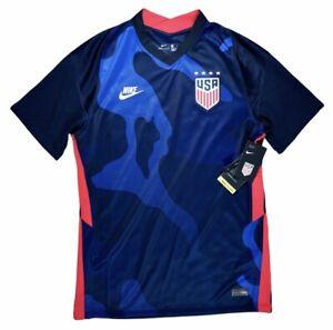 Nike USA USMNT 2020 Away Soccer Jersey VaporKnit Blue Size Medium CD0736-475