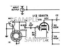 1960 David Bogen MXM-A Amplifier Schematic Diagram parts value pdf