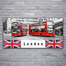 Wandbilder Glasbilder Druck auf Glas 120x60 London Busse Kunst