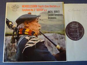 MENDELSSOHN - SYMPHONY NO 3 / FINGAL'S CAVE LP, LSO, Dorati, MERCURY MMA 11048