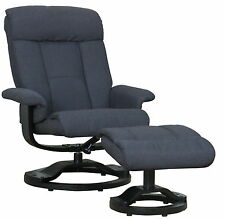 Relax Sessel Hocker Fernsehsessel Polstersessel Lounge Wohnzimmer Grau