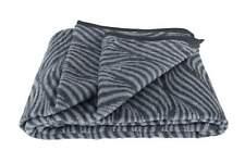 Wohndecke mit Einfassband 150 x 200 cm schwarz grau gemustert Kuschel Decke Sofa