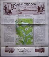 Berlin 1907 Werbeprospekt Friedrichshagen Müggelsee Mark Brandenburg Prospekt RP